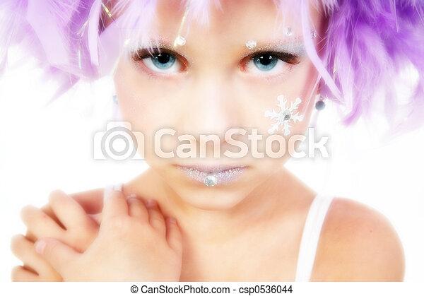Beautiful Five Year Old Princess - csp0536044