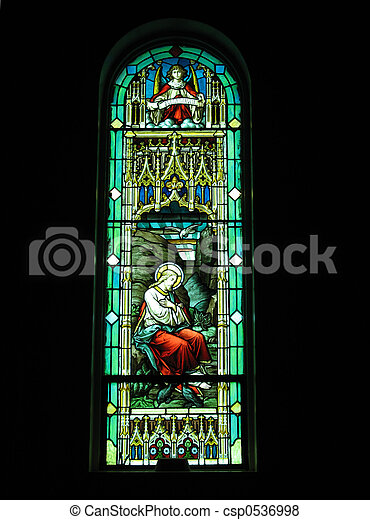 Stained glass window - csp0536998