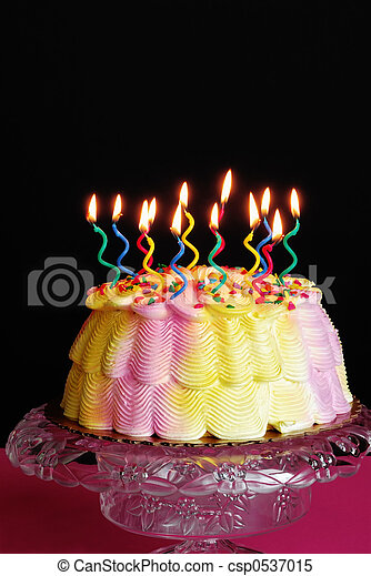 Lighted Birthday Cake - csp0537015