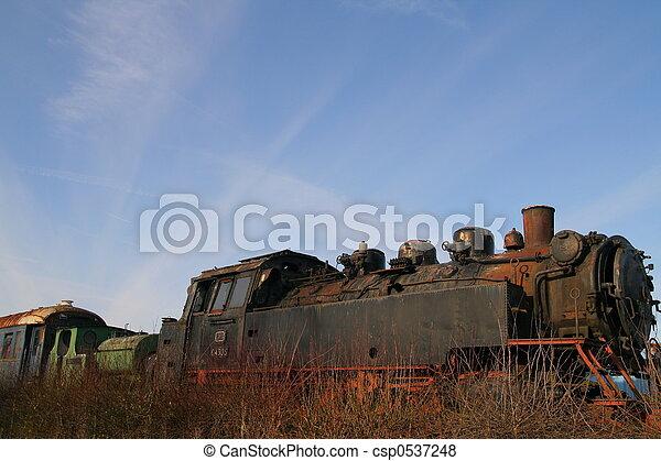 浮浪者, 列車 - csp0537248