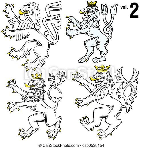 Heraldic Lions 2 - csp0538154