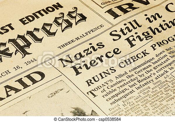 World War II news - csp0538584