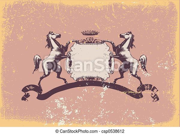 heraldic shield - csp0538612