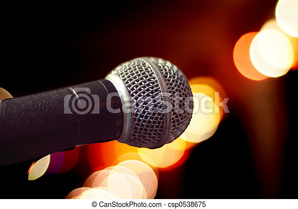 Microphone close-up - csp0538675