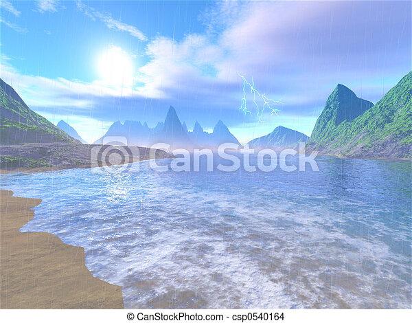 lluvioso, laguna - csp0540164