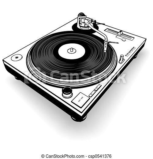 DJ Gramophone BW - csp0541376