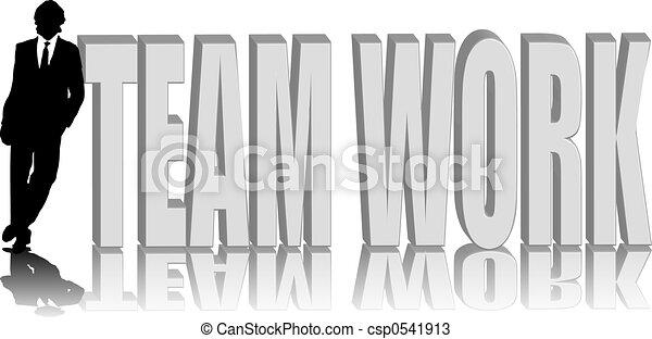 man lean team work - csp0541913