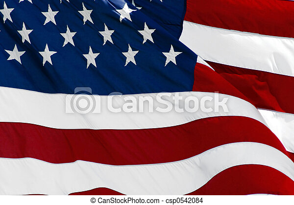 amerikanische, Fahne - csp0542084