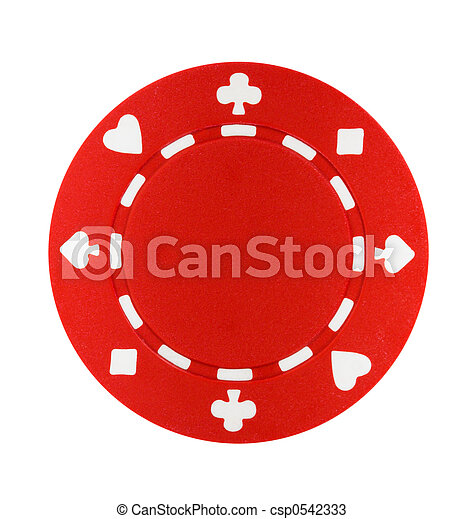Red Poker Chip - csp0542333