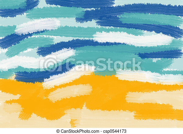 Sand and ocean - csp0544173