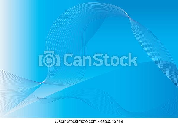 blå, bakgrund, vågor - csp0545719