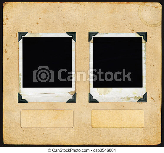 Vintage Paper - with Polaroid - csp0546004