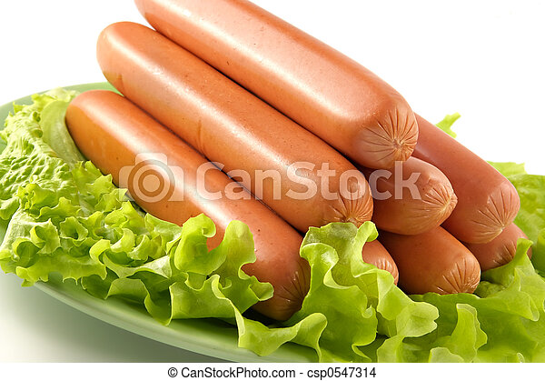 Appetizing pork sausages - csp0547314