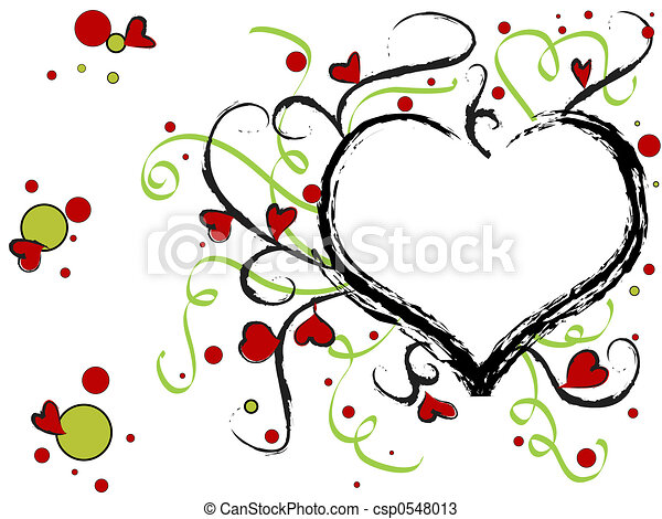 Hearts design - csp0548013