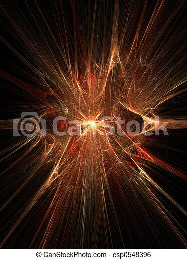 Stock Illustration of Magic explosion 3D supernova ...