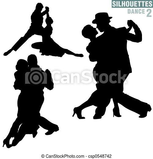 Silhouettes Dance 02 - csp0548742