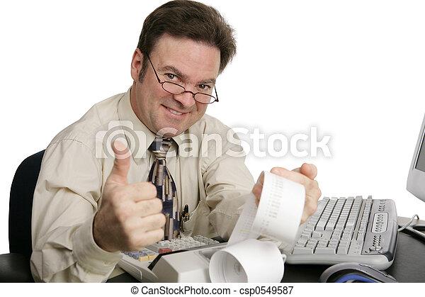 contabilidade,  thumbsup - csp0549587