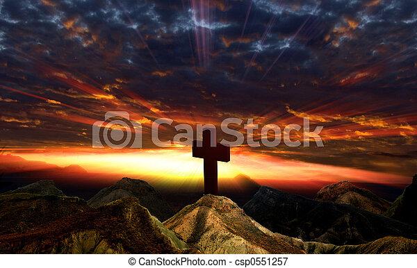 Sunset and Idol - csp0551257