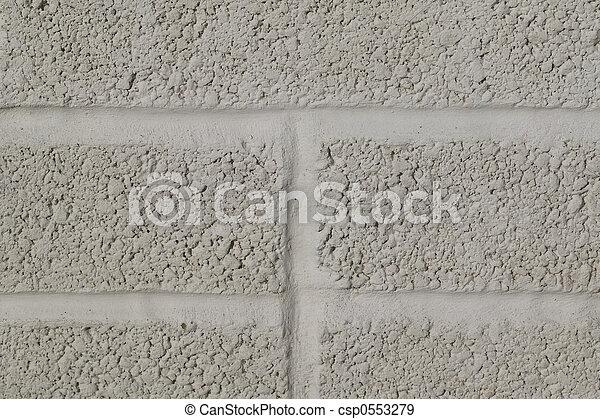 Painted breeze blocks - csp0553279