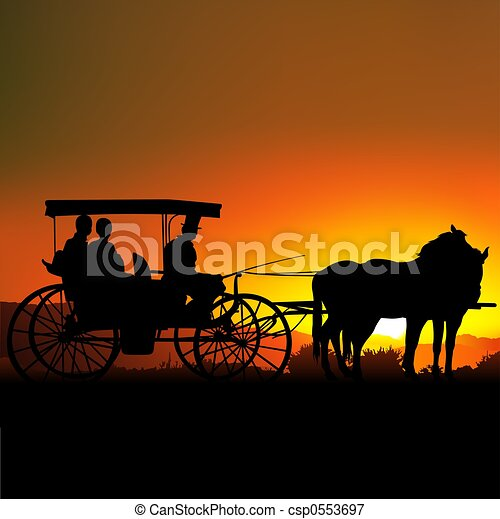 Carriage Silhouette  - csp0553697