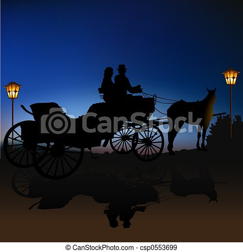 Carriage Silhouette - csp0553699