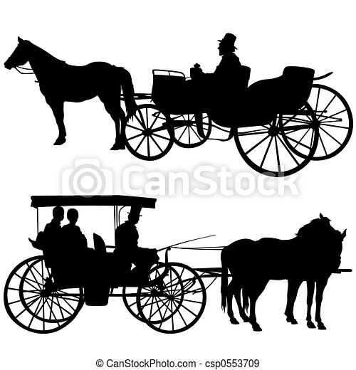 Silhouettes Carriage - csp0553709
