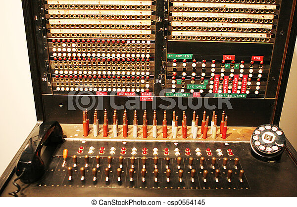 Stock Images Of Original Raf Telephone Switchboard At The
