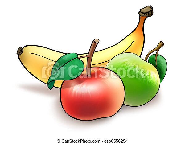 Dessin de fruit r gime illustration de banane et for Clipart frutta