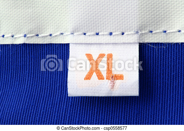 real macro of XL size clothing label - csp0558577