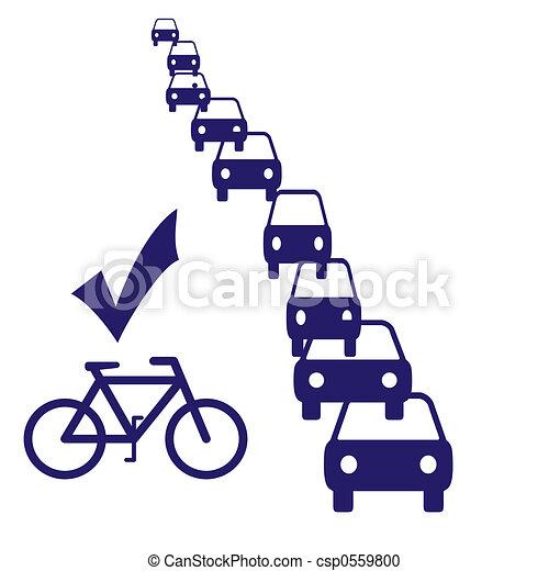 bike commuting - csp0559800