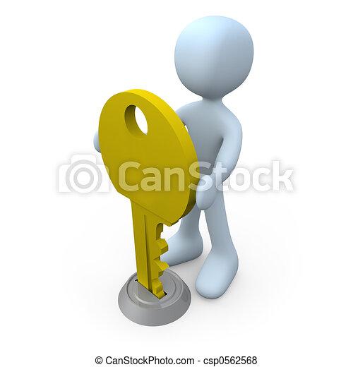 Key in Keyhole - csp0562568
