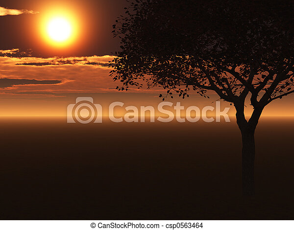 singel, träd - csp0563464