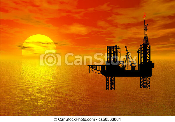 oil-drilling platfor - csp0563884