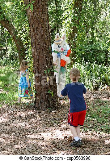 Easter Bunny Hide & Seek - csp0563996