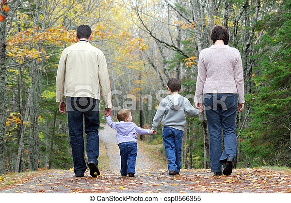 Walking family - csp0566355