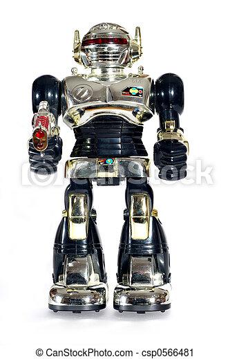 stock fotografie von spielen roboter gewehr picture von a spielen roboter csp0566481. Black Bedroom Furniture Sets. Home Design Ideas