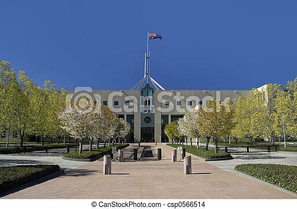 parlamento,  canberra - csp0566514