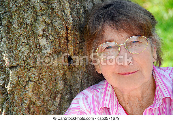 Elderly woman - csp0571679