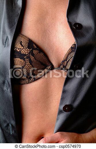 bosom with bra - csp0574970