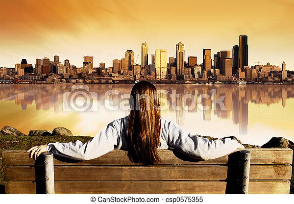 City View Sunrise - csp0575355