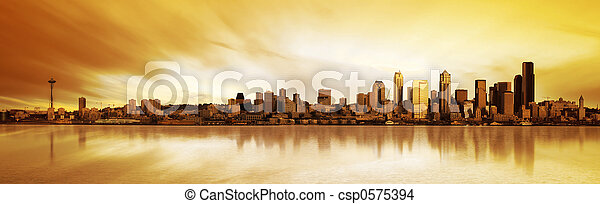 Seattle Panorama - csp0575394