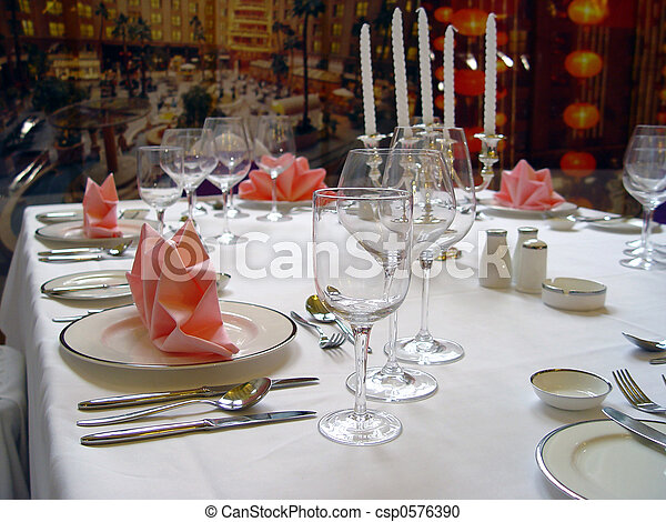 BANQUET TABLE - csp0576390
