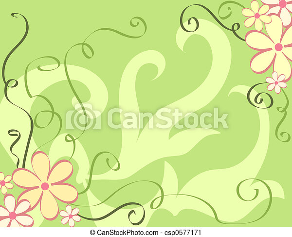 Floral border - csp0577171