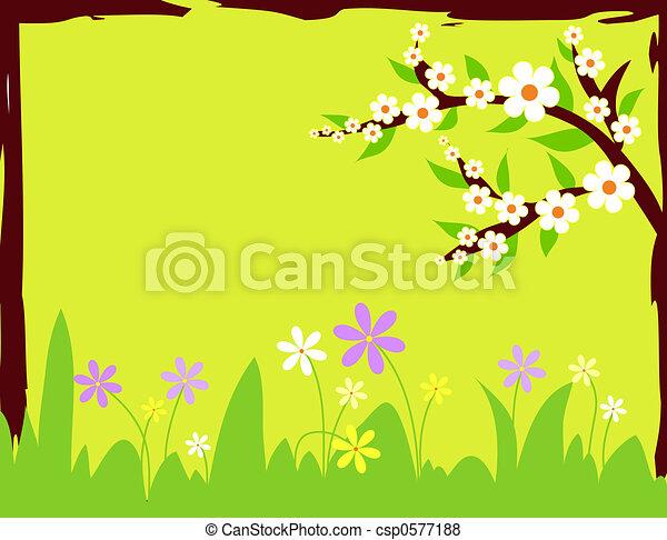 Spring flowers - csp0577188