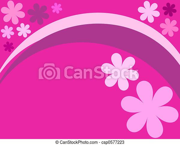 Pink flowers - csp0577223