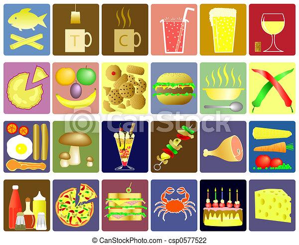 Food icons - csp0577522