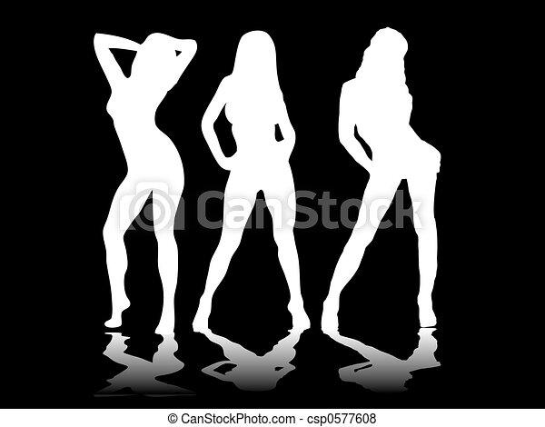 sexy three black - csp0577608
