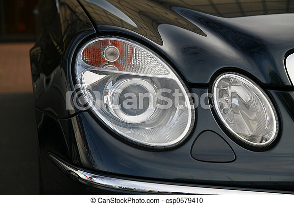 headlamp of expensive car - csp0579410