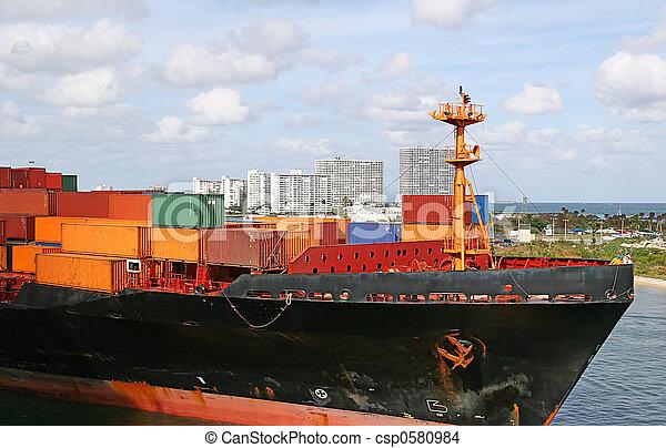 Freight in Harbor - csp0580984