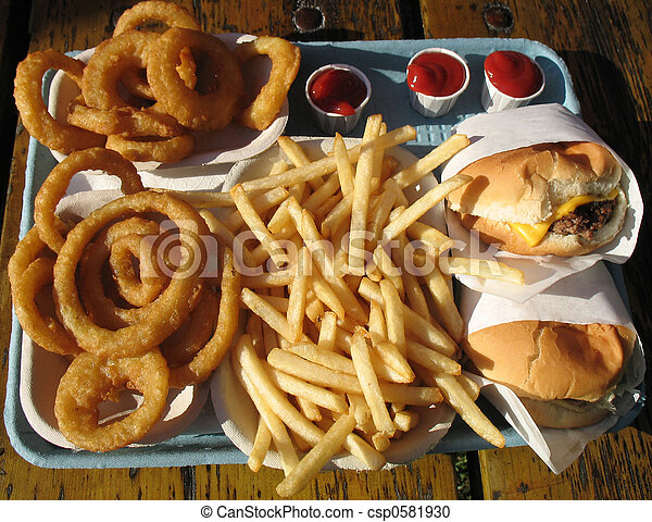 Tray of Junk Food - csp0581930